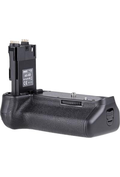Canon Eos 6D İçin Ayex Ax-6D Batter Grip + 2 Ad. Lp-E6 Batarya