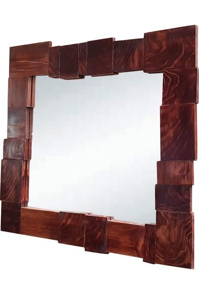3 El Puzzle Çalışma Ahşap Duvar Aynası
