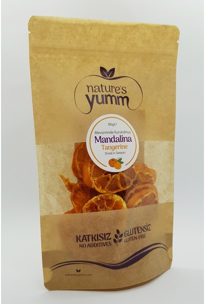 Nature'S Yumm 3'Lü Kurutulmuş Mandalina Paketi 50 gr