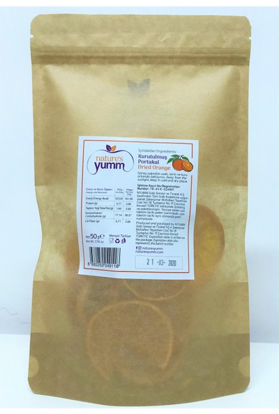 Nature'S Yumm 3'Lü Kurutulmuş Portakal Paketi 50 gr