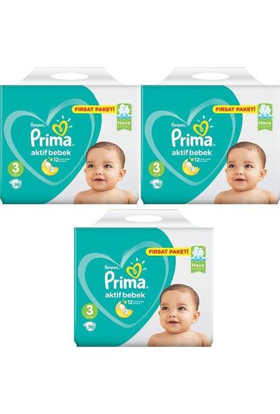 Prima Fırsat Paketi 3 Numara 6- 10 kg 70 X 3=210 Adet Bebek Bezi