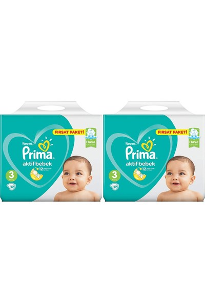 Prima Fırsat Paketi 3 Numara 6- 10 kg 70 X 2=140 Adet Bebek Bezi
