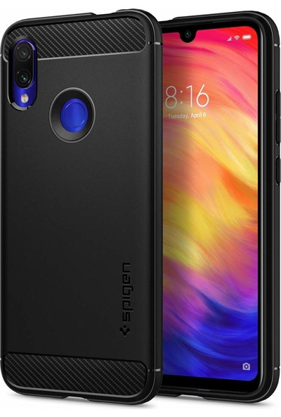 Spigen Xiaomi Redmi Note 7 Kılıf Rugged Armor Matte Black - S34CS26086