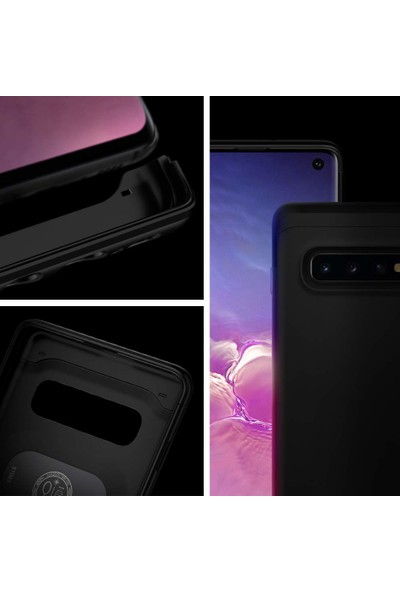 Spigen Samsung Galaxy S10 Kılıf Thin Fit Classic Black - 605CS26055