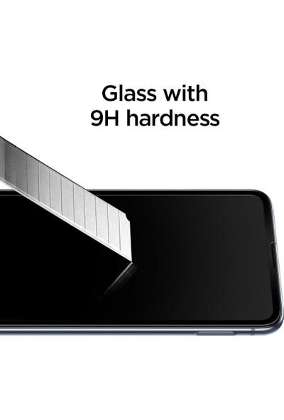 Spigen Samsung Galaxy S10e Cam Ekran Koruyucu Tam Kaplayan Full Cover Black - 609GL26003