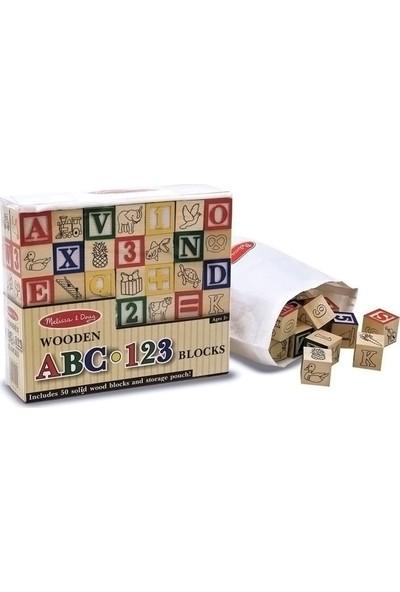 Melissa&Doug Abc/123 Ahşap Bloklar
