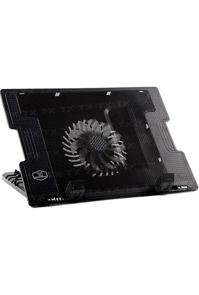 "TX ErgoStand 17"" 14cm Fanlı 5 Kademeli 2x USB HUB Notebook Soğutucu (TXACNBERGST)"