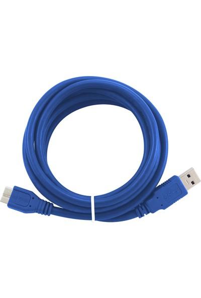 Flaxes FHK-303 3Metre USB 3.0 AM-Mbm USB HDD Şarj Data Kablosu