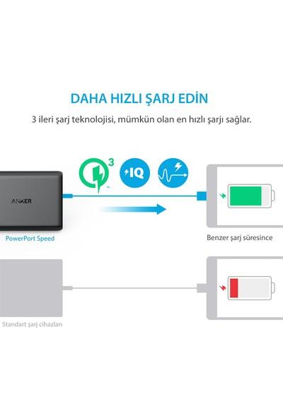 Anker PowerPort 5 Speed 63W QuickCharge 3.0 Seyahat Hızlı Şarj Cihazı