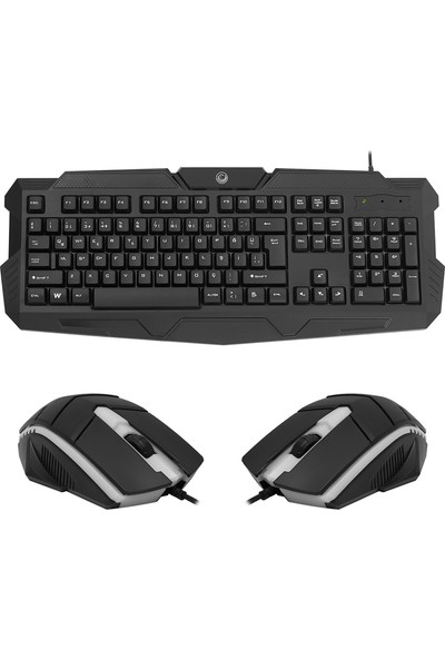 Gamemax FK-G440QU Oyuncu Işıklı Kablolu Klavye & Mouse Set