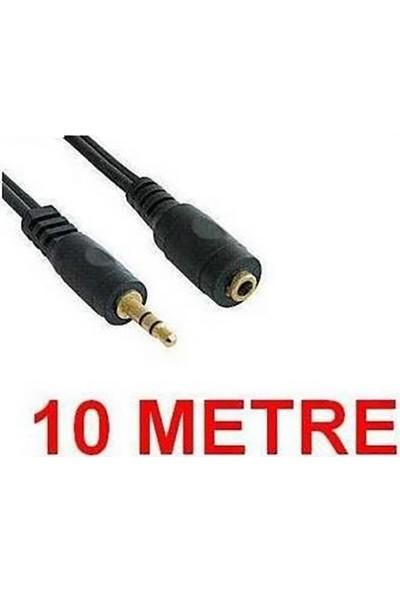 Alfais 4807 3.5 Mm Kulaklık Ekleme Uzatma Kablosu Dişi Erkek 10 Metre