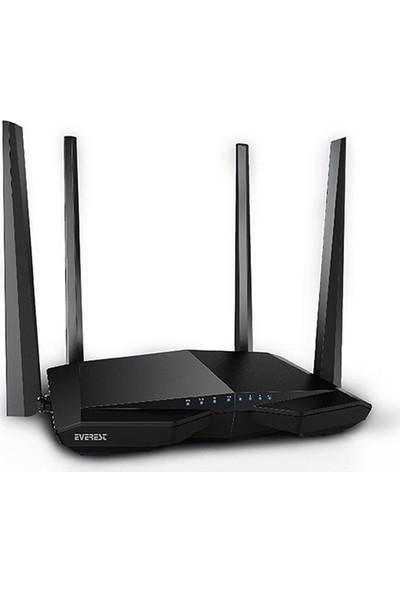 Everest EWR-AC66 802.11ac Dual-Band 1200Mbps 1*FE WAN + 3*FE LAN Kablosuz Router