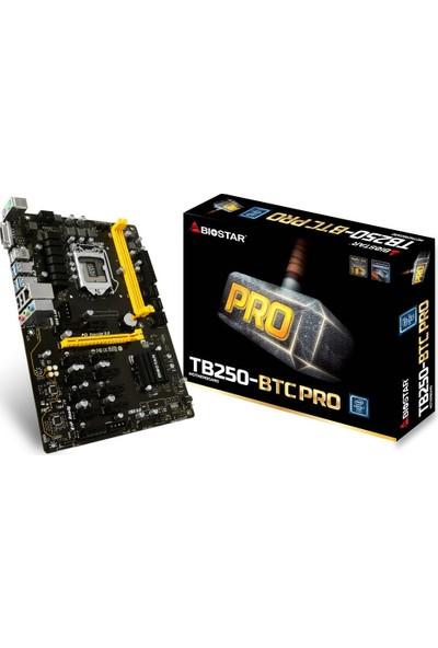 Biostar TB250-BTC PRO 12 Adet Ekran Kartı Girişli 2400MHz DDR4 Soket 1151 ATX Mining Anakart