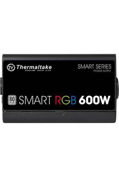 Thermaltake Smart 600W 80+ 12cm RGB Led Fanlı PSU (PS-SPR-0600NHSAWE-1)