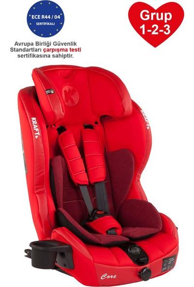 Kraft Core Fix Isofixli Oto Koltuğu Grup 1-2-3 (9-36 kg) Kırmızı