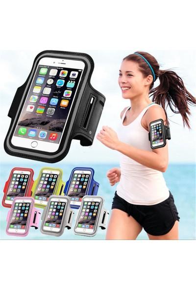 """Pembe Yürüyüş Koşu Spor Su Geçirmez 5.5"""" İnch Kol Bandı Telefon Kılıfı"""