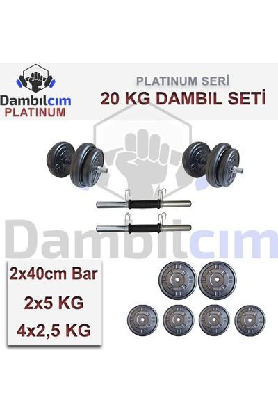 Dambılcım Platinum 20 Kg Dambıl Seti Ağırlık Seti Vücut Geliştirme Aleti