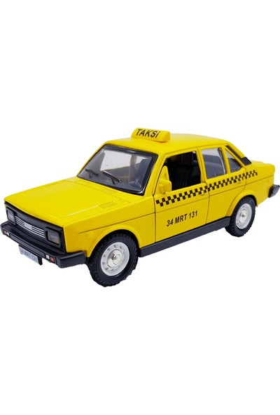 Can Oyuncak Çekbırak 1:32 Metal Murat 131 Model Araç Sarı Taksi