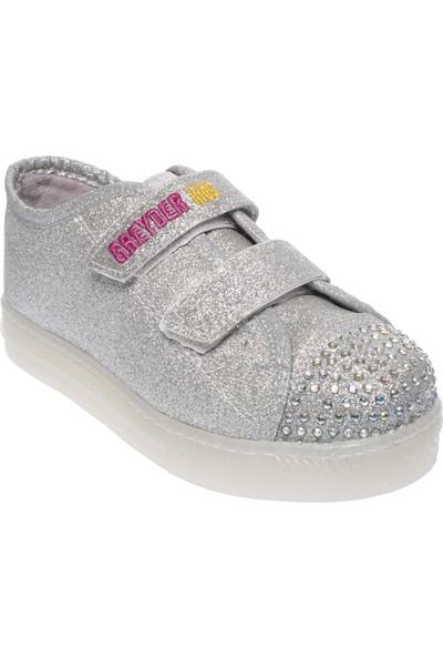 Greyder 69028 Patik Işıklı Gümüş Çocuk Spor Ayakkabı