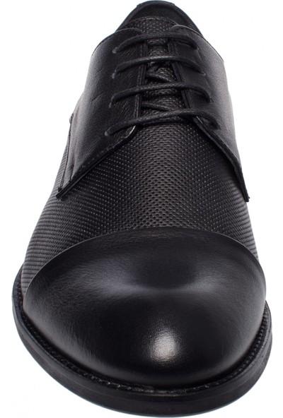 Castle Black 6463 Bağlı Klasik Siyah Erkek Ayakkabı