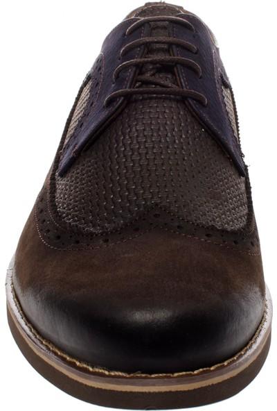 Castle Black 1553 Oxford Bağlı Klasik Kahverengi Erkek Ayakkabı