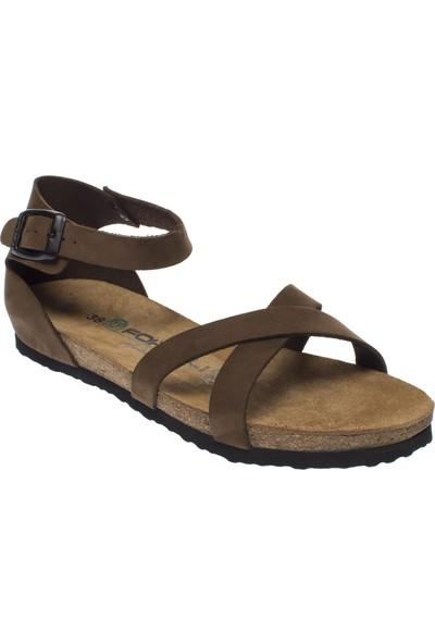 Forelli 23223 Hakiki Deri Kum Kadın Sandalet