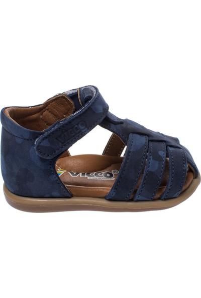 Vicco 918.19Y.018 İlk Adım Deri Lacivert Çocuk Sandalet