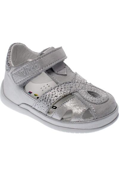 Vicco 918.19Y.010 İlk Adım Deri Gümüş Çocuk Ayakkabı