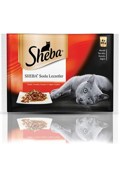 Sheba Pouch Etli Seçenekler Yaş Kedi Maması 4'lü 85 Gr x 13 Adet