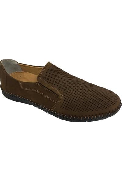 M.P 7538 İçi Dışı Deri Delikli Hava Alan Ortopedik Erkek Ayakkabı