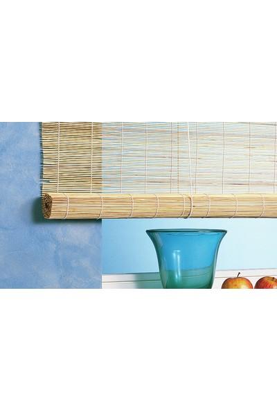 Gardinia Bambu Ahşap Stor Perde Doğal