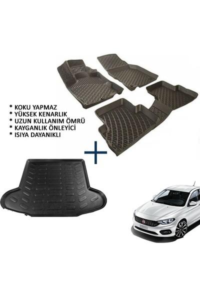 Carx Fiat Egea Sedan 3D Havuzlu Oto Paspas Ve 3D Bagaj Havuzu (2014 Ve Üzeri)