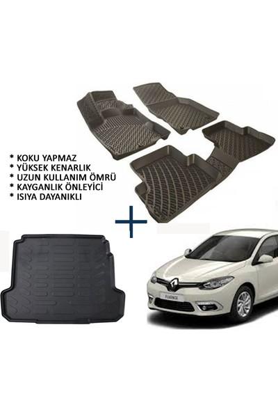 Carx Renault Fluence 3D Havuzlu Oto Paspas Ve Bagaj Havuzu (2009 Ve Üzeri)