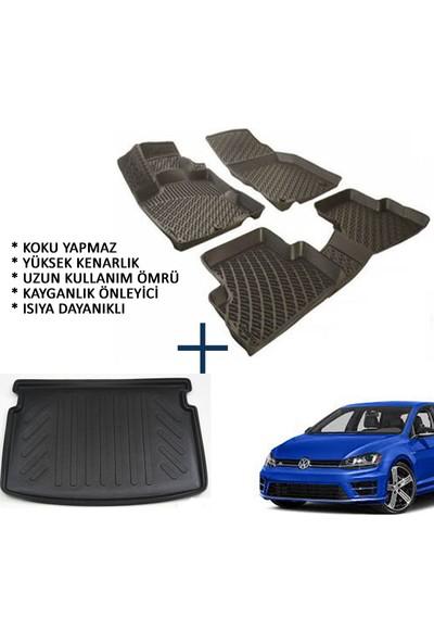 Carx Volkswagen Golf 7 3D Havuzlu Oto Paspas Ve 3D Bagaj Havuzu (2013 Ve Üstü)