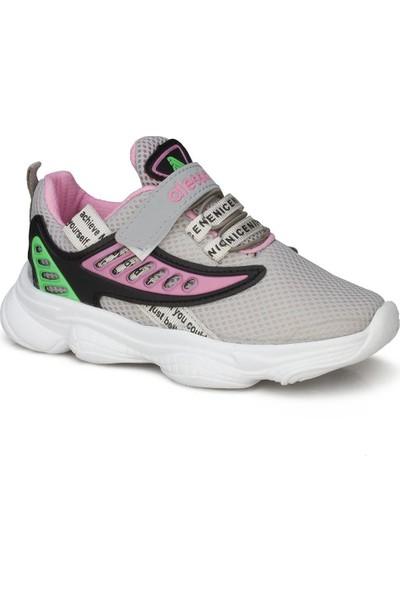 Alessio Gri Kız Çocuk Ayakkabı Sneaker