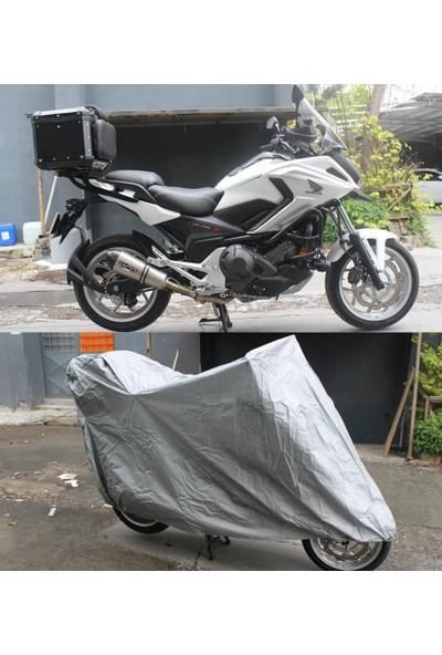 ByLizard Çelik Motor 100Cc Arka Çanta Topcase Uyumlu Motosiklet Branda Örtü Çadır