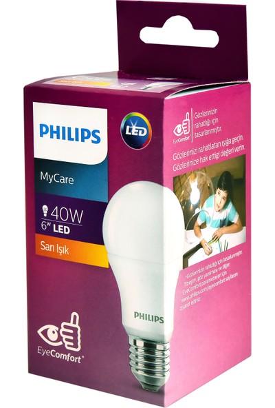 Philips LEDBulb 6-40W E27 2700K Sarı Işık Led Ampul