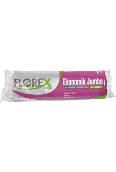 Florex Ekonomik Jumbo Siyah Çöp Torbası 80x110 1 Rulo