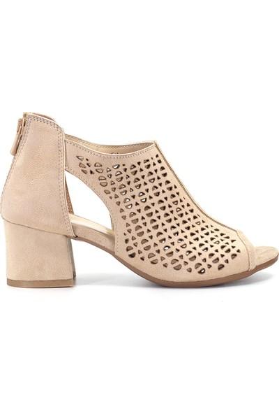 Eşle 9Y-701 Kadın Topuklu Ayakkabı Ten