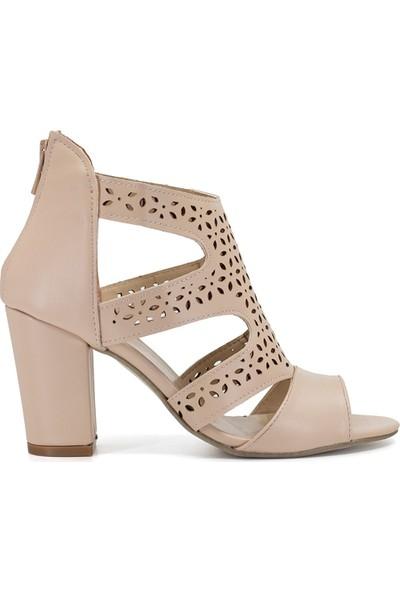 Eşle 9Y-1304 Kadın Topuklu Ayakkabı Ten