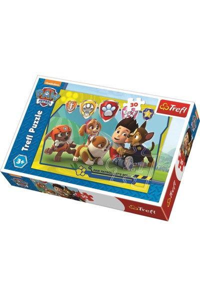 Trefl Çocuk Puzzle Ryder And Friends, Paw Patrol 30 Parça Puzzle