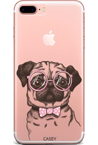 Casey Mobile Apple iPhone 7 Plus Pug Dog Baskılı Silikon Kılıf