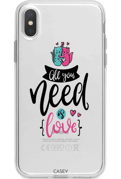 Casey Mobile Apple iPhone XR All You Need Is Love Baskılı Silikon Kılıf