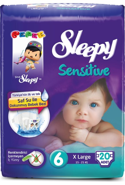 Sleepy Sensitive Xlarge Pepee 20 Adet (15-25 Kg)