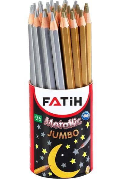 Fatih Boya Kalemi Metalik Jumbo Altın-Gümüş 36 Lı (1 Paket 36 Adet) Fa33370Mjbkgs
