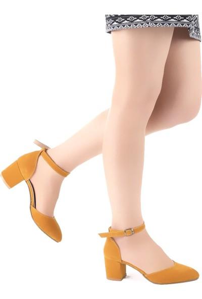 Muggo Women W175 Süet Kadın Topuklu Ayakkabı