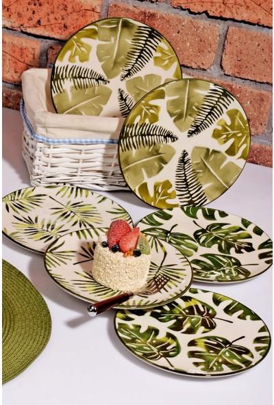 MHK Collection Organik El Yapımı Lüx 6'lı Pasta Tabak Seti