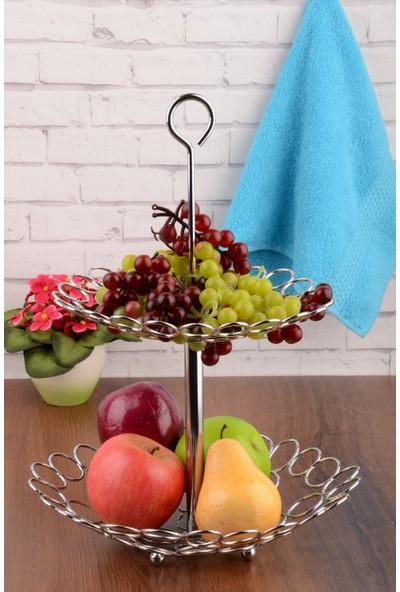 MHK Collection Paslanmaz Çelik Lüx Katlı Meyvelik