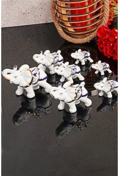 MHK Collection Porselen 7'li Fil Biblo Seti