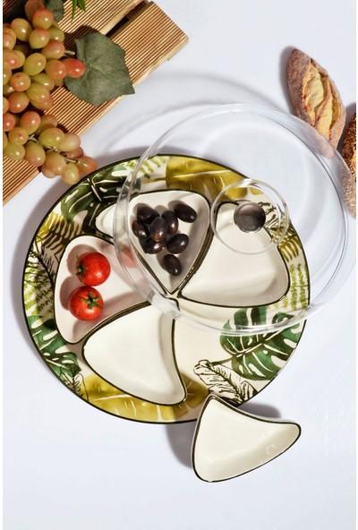 MHK Collection Tropik Serisi Lüx Kapaklı, Seramik Kahvaltı Seti